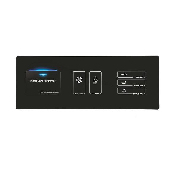 Spersonalizowana Ramka potrójna 3in1 Savekey 4Hotels- Włącznik na kartę MiFare, Panel oświetlenia, wewnętrzny panel dzwonka