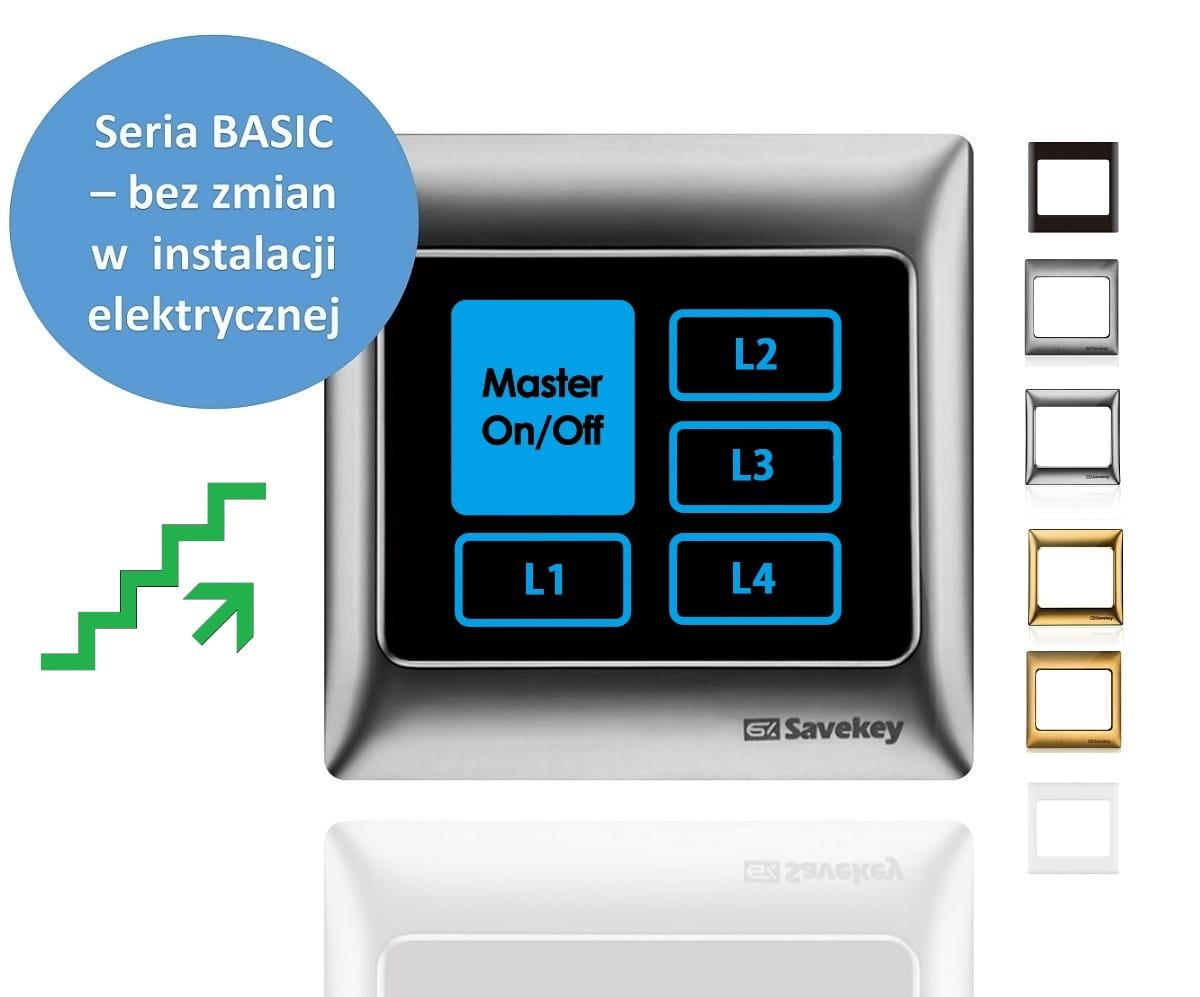 Panel dotykowy SaveKey BASIC z funkcją schodową TS-L4-MFC