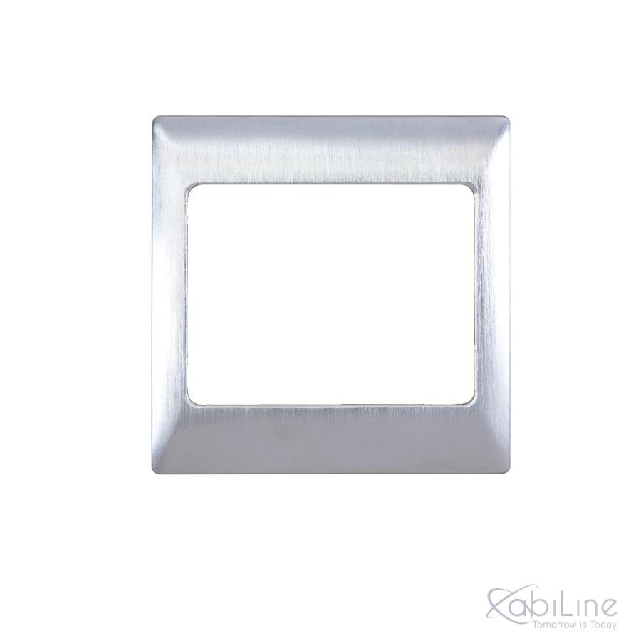 Ramka do włącznika SaveKey satynowo-chromowana