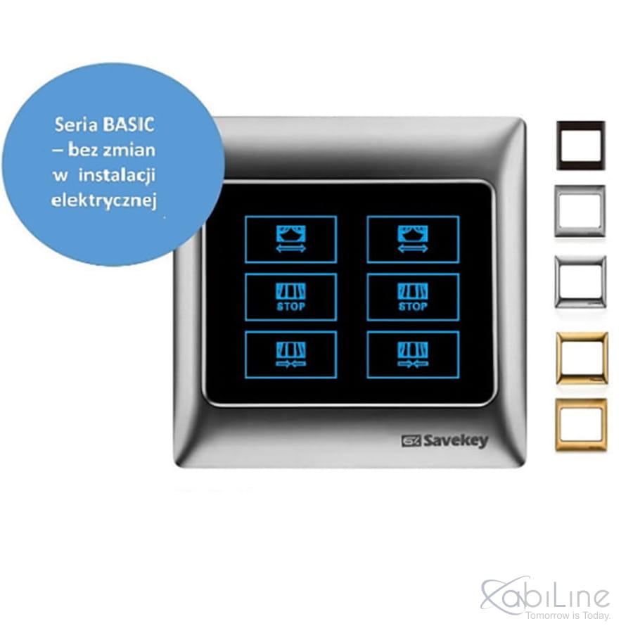 Panel dotykowy SaveKey BASIC do sterowania roletami TS-C2