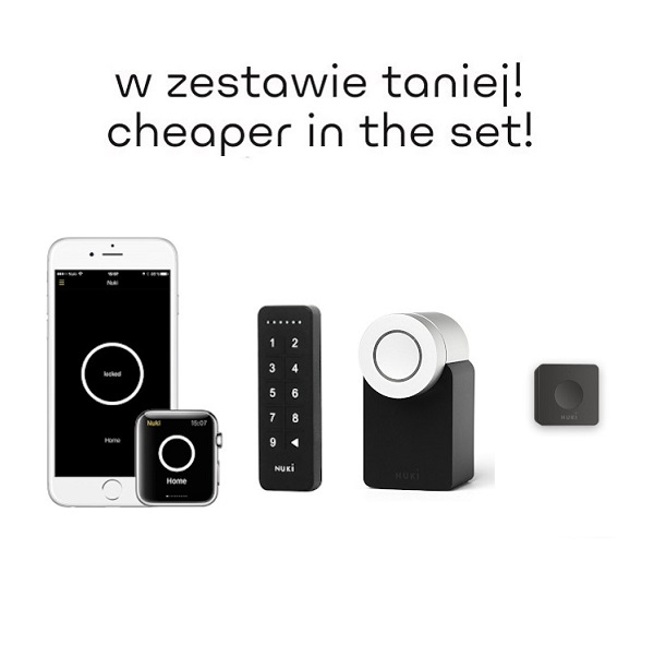 Zestaw NUKI HOST: NUKI SmartLock + NUKI KeyPad + NUKI Bridge