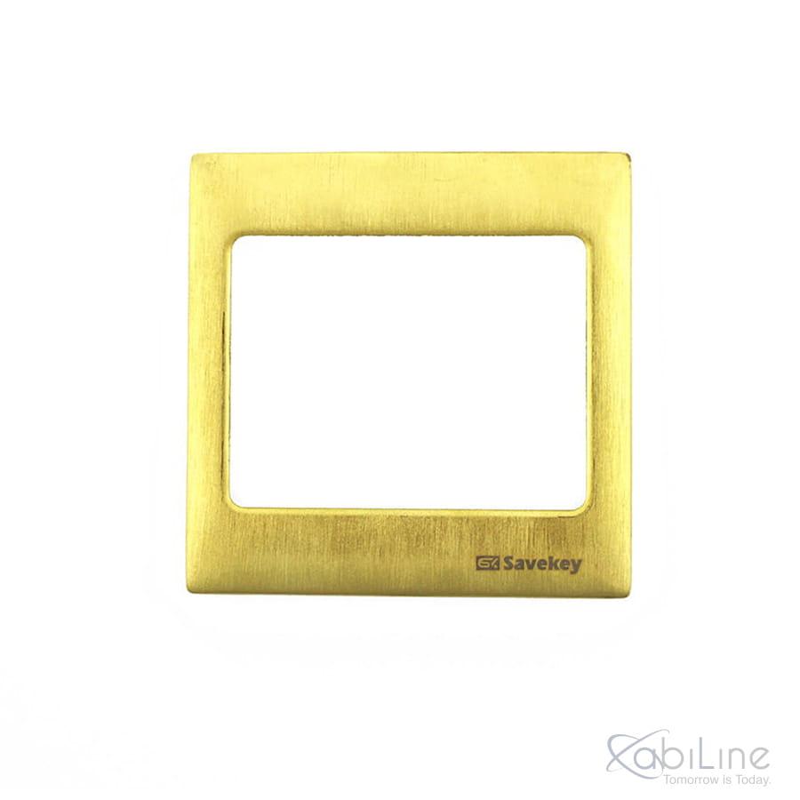 Ramka do włącznika SaveKey - metalowa satynowo- złota