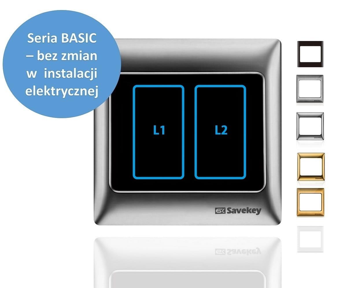 Włącznik dotykowy podwójny SaveKey BASIC TS-L2