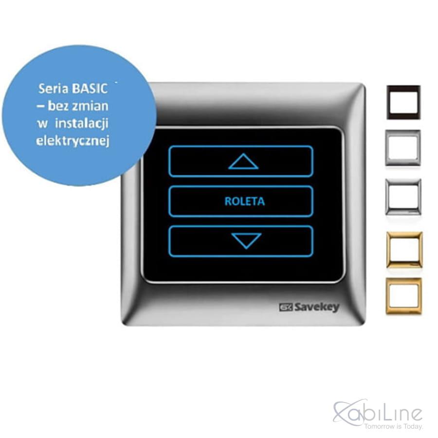 Panel dotykowy SaveKey BASIC do sterowania roletami TS-C1