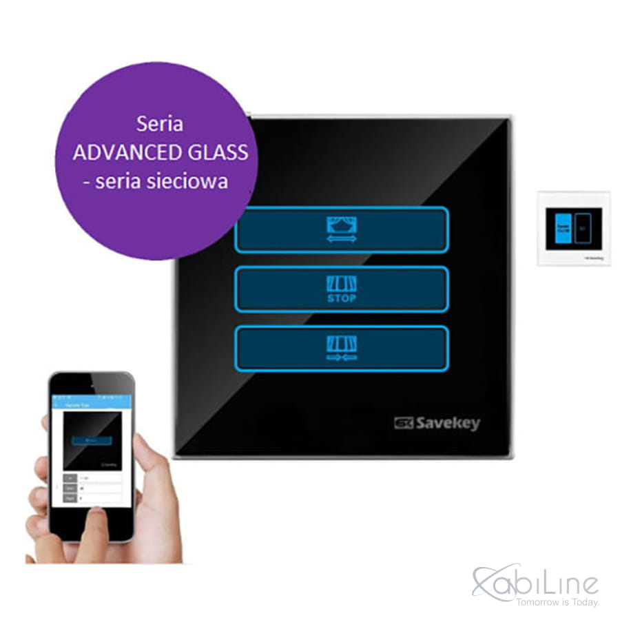 Panel dotykowy SaveKey ADVANCED GLASS  CN-C1 do sterowania roletami