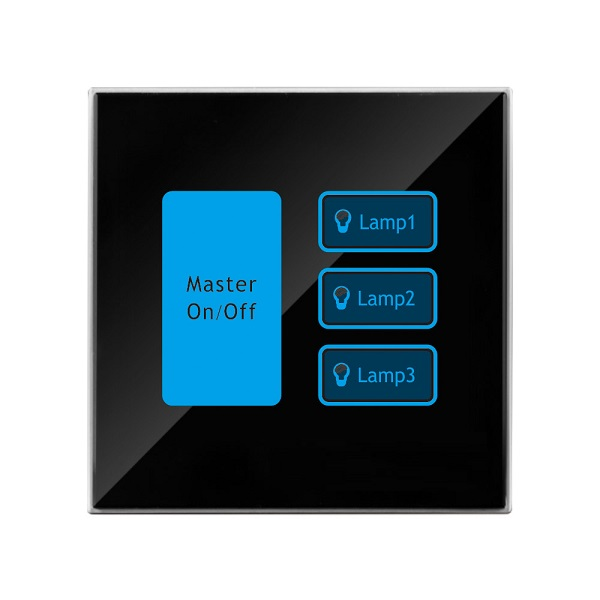 Panel dotykowy do sterowania oświetleniem + Master on/off  kleger